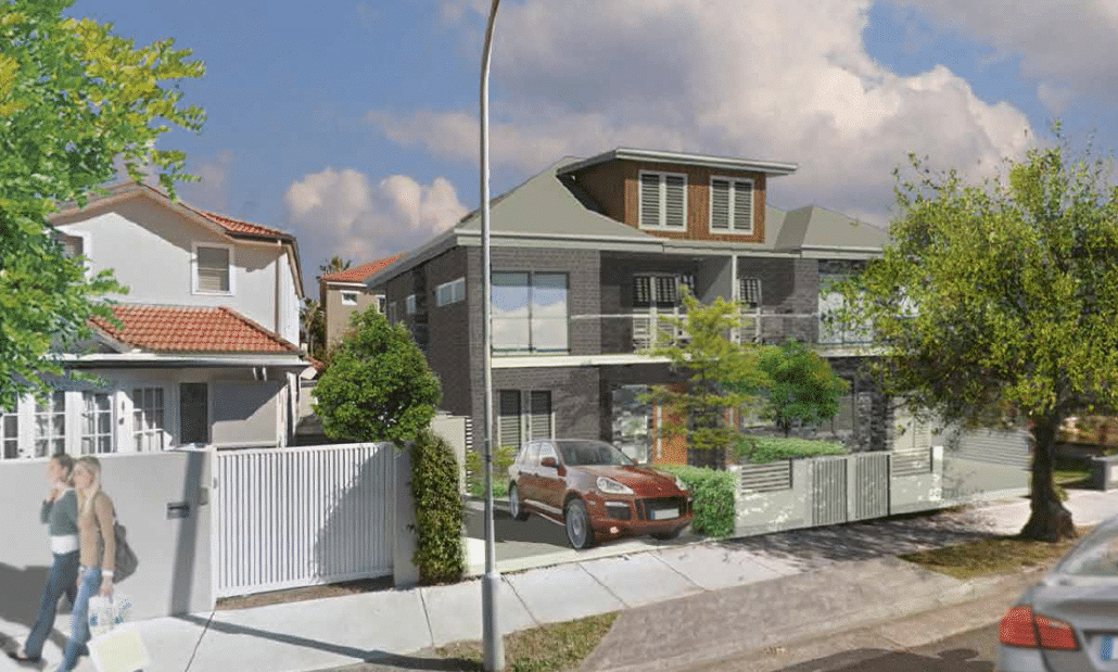An artists Impression of the possible redevelopment of 25 Glasgow Ave Bondi Beach (STCA)