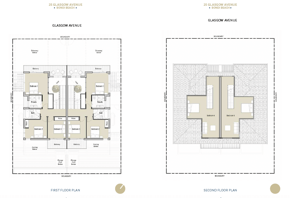 The upper level design includes generous sized bedrooms and an attic level.